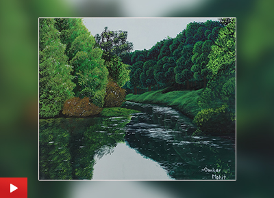 Nature painting by Omkar Mohit