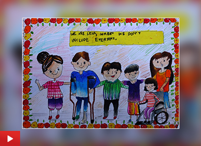 Painting to respect specially abled persons by Ayushi Sen
