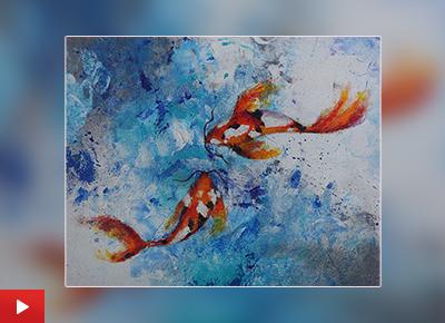 Koi fish painting by Jiya Parakh (15 years)