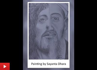 Pencil drawing by young artist Sayanta Dhara