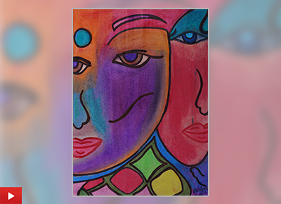 Akshipra (class 9) talks about her painting