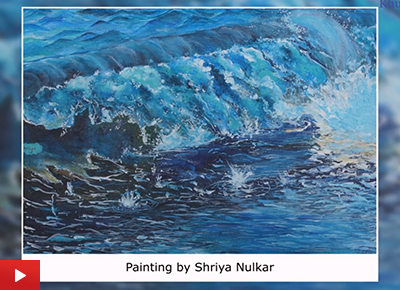 Wave painting by young artist Shriya Nulkar (23 years)