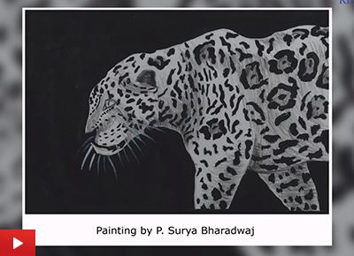 Cheetah painting by P. Surya Bharadwaj (21 years)