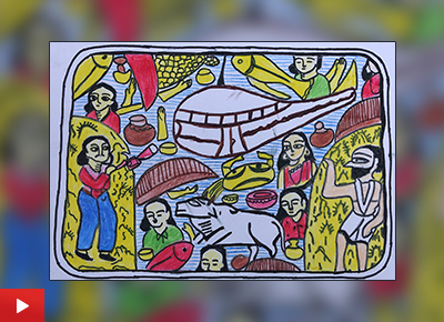 Unity in Diversity, painting by Rajeshwari Mandal (12 years)