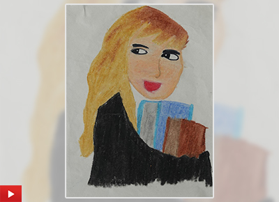 Painting inspired by Hermione Granger from Harry Potter by Aanya Mahajan (class 5)