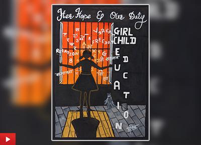 Girls education poster by Dhanishtha Jadhav (15 years)