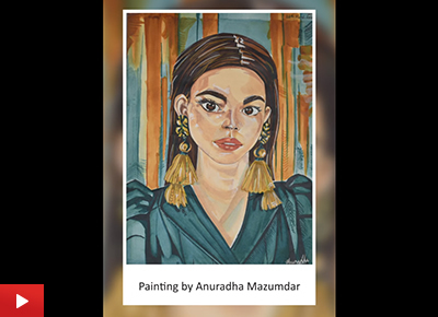 Portrait painting by Anuradha Mazumdar (23 years)