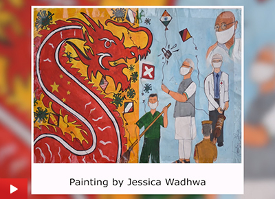Jessica Wadhwa (17 years) talk about her painting - India fights Covid-19