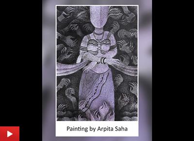 Arpita Saha talks about her painting