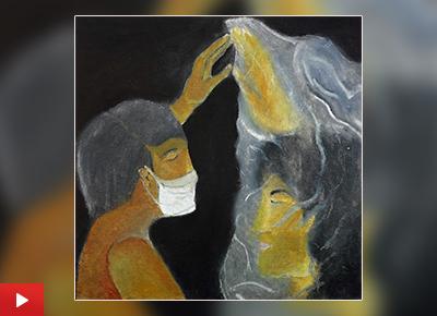 Isolation, lockdown painting by Akashnil Borah (14 years)