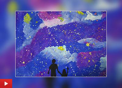 Star gazing painting by Divyangana Saha (10 years)