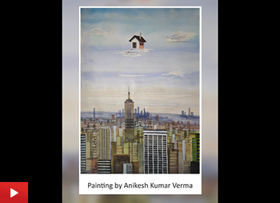 Young artist Anikesh Kumar Verma talks about his watercolour painting