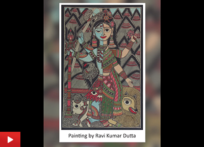 Madhubani Art by Ravi Kumar Dutta (20 years)