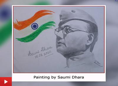 Portrait of Netaji Subhash Chandra Bose (21 years)