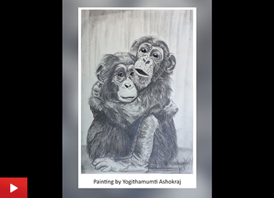 Loving bond, artwork by Yogithamumti Ashokraj