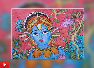 Krishna painting by Anika Nair (10 years)