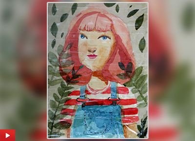 Red Haired Girl Painting by Aaruni Deshpande (11 years)