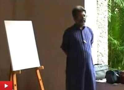 Portrait Painting demo by Artist Vasudeo Kamath at Indiaart Gallery : 1