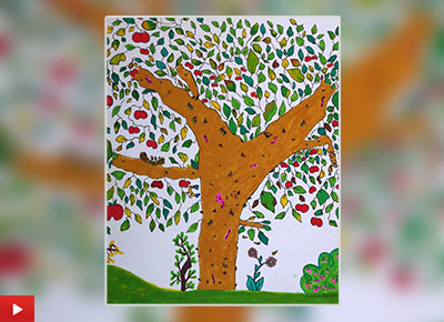 Tree painting by Aashna Kathuria (9 years)