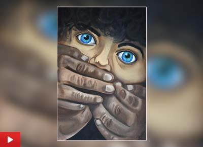 Gargee Patil (15 years) from Aurangabad, Maharashtra talks about her painting 'Save Girl Child'