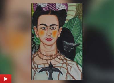 Listen to Lata Kumari (12 years) talk about her painting
