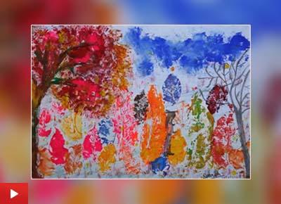 Sourish Ruchandani (8 years) from Bengaluru, Karnataka, talks about the painting 'Journey of Life'