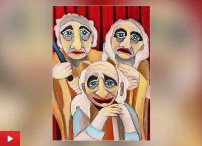 The painting 'Actors' by Viara Pencheva (11 years) from Gabrovo, Bulgaria