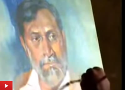 Portrait Painting demo by Artist Vasudeo Kamath at Indiaart Gallery : 4