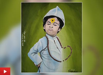 Pandharicha Raja, painting by Dnyaneshwari Zaware (19 years), Pune, Maharashtra