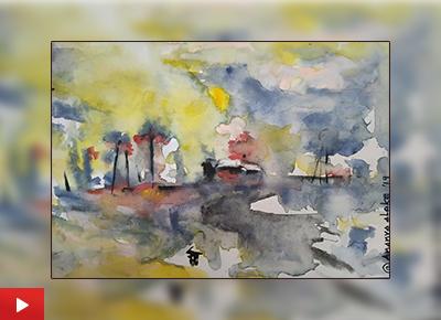 Rainy Day, painting by Ananya Aloke (16 years), Nashik, Maharashtra