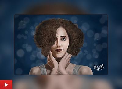 Sanya Malhotra portrait painting by Bhinder Singh (24 years), Bathinda, Punjab
