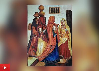 Lifestyle of Rajasthan painting by Rima Pramanik (21 years), Asansol, West Bengal