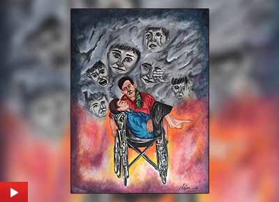 Disability painting by Naina Somani (22 years), Udaipur, Rajasthan