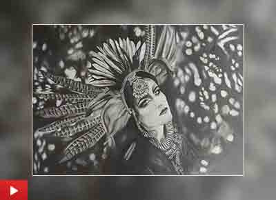 Tribal hereditary look painting by Mohan Ram (21 years)