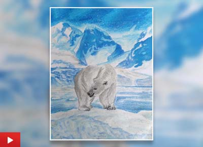 A Polar Bear, painting by Rudranil Das (12 years)