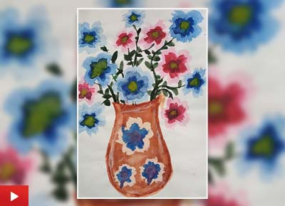 Flower Pot, painting by Aditi Saxena (11 years)