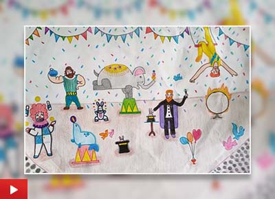 The Circus, painting by J S Anshika (12 years)