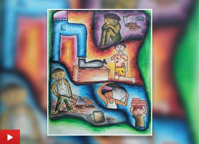 Child Labour, painting by Aastha Kaushik (17 years)