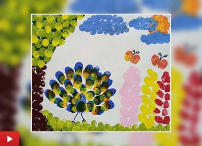 Spring Season, painting by Kirav Anand (6 years)