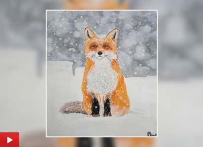 Red Fox, painting by Shruti Bhagat (14 years)