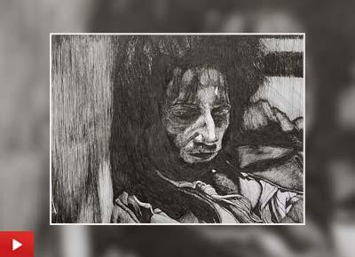 The Prisoner, pen sketch by Twinkle (24 years)