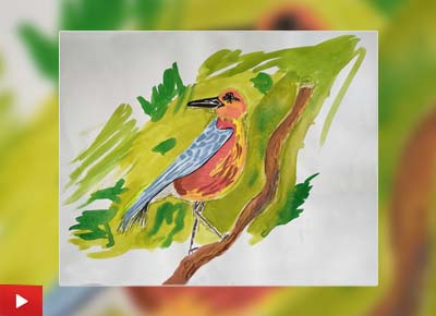 Bird, painting by Tanush Muley (12 years)