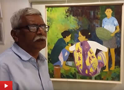 Artist Shashikant Bane takes us on a tour of his recent oil paintings