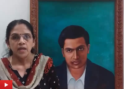 Srinivasa Ramanujan painting by Dr. Gouri Ambika : Part 1