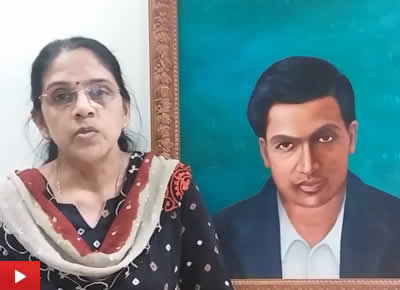 Srinivasa Ramanujan painting by Dr. Gouri Ambika : Part 2