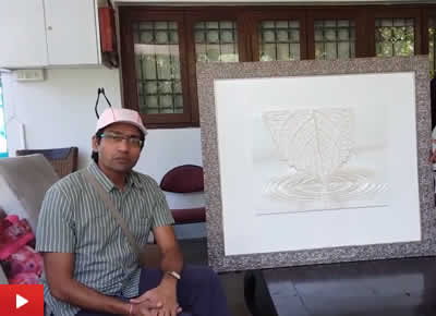 Uday Raghuwanshi on his 3D printed sculptural painting