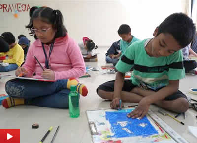 Painting competition for children to celebrate Science Day