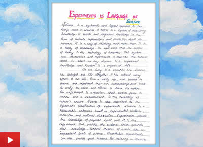 Experiments is the language of Science, essay by Devika Nair, Class 9, VKV, Itanagar, Arunachal