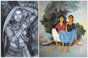 Indiaart - Woman Paintings