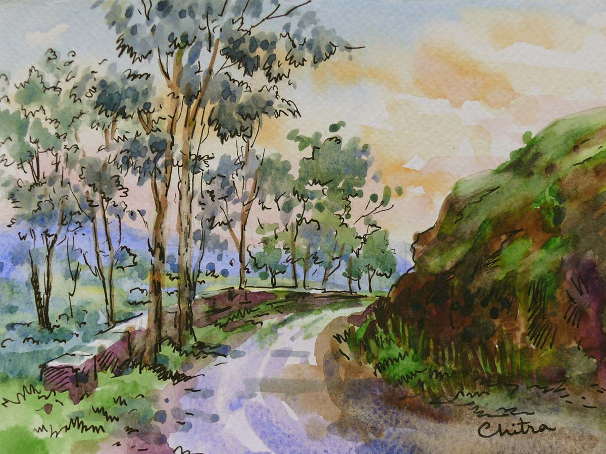 Call of the Hills Exhibition of Paintings and Sketches by Chitra Vaidya
